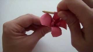 цветы оригами с видео