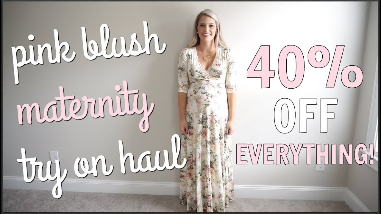d3c1b013c1ae Pink Blush Maternity Black Friday Try on Haul - YouTube