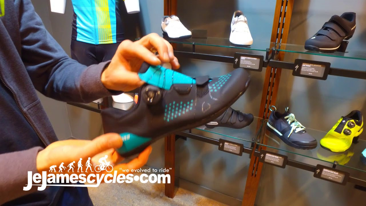 8c79758b7d7 Specialized Torch 2.0 Womens Black Road Bikes Shoes 2018 - YouTube