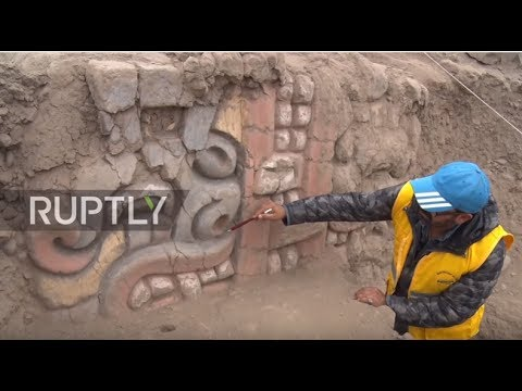 Peru: Prehistoric friezes unearthed in Huaca Garagay near Lima