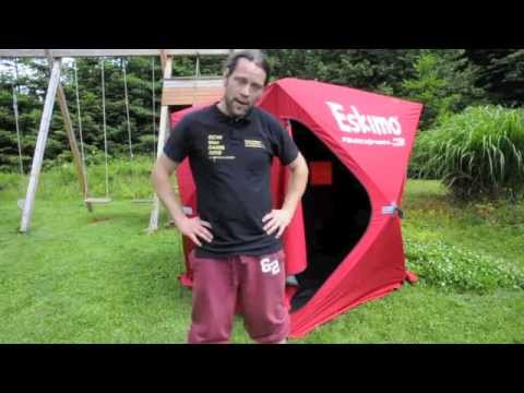 sc 1 st  YouTube & A tutorial how to make Eskimo QuickFish tent light tight - YouTube