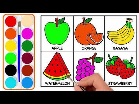 Meyve sekili cekmek | Maraqli videolar | sekil cekmek