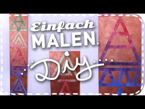 DIY-BILD | Hipster-Dreiecke | easy & einfach Malen | DoItLisa