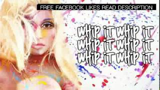Whip It - Nicki Minaj (Lyrics Video) lyrics on screen ((HD))