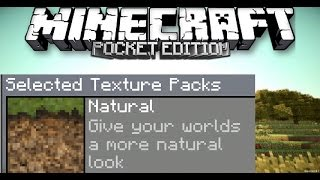 MCPE 0.15.7 /0.16.0 NATURAL TEXTURE PACK DOWNLOAD
