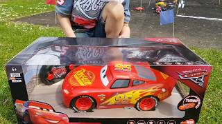 Disney Cars 3 Toys Biggest Lightning McQueen Remote Control RC Fastest  Race Jackson Storm