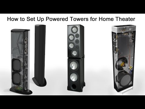 How to Set Up Powered Tower Speakers for Home Theater - YouTube Dcm Speakers Home Theater Subwoofer Wiring Diagram on