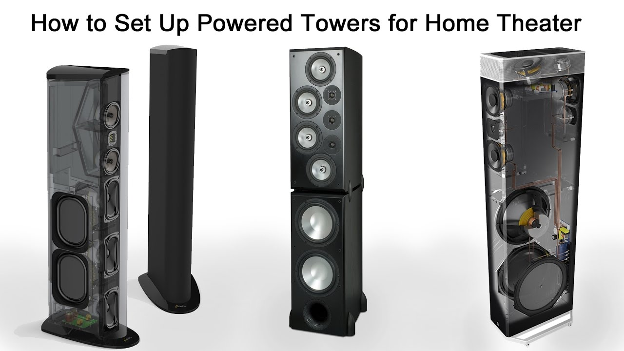 how to set up powered tower speakers for home theater [ 1280 x 720 Pixel ]
