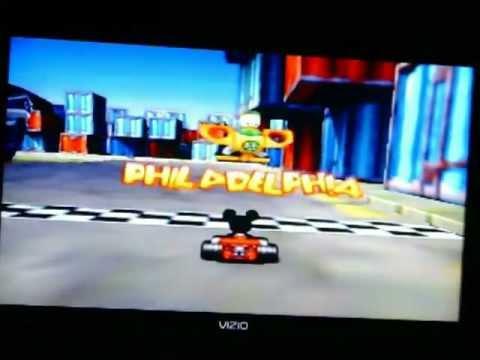 Mickey's Speedway USA-Motor Way Mania-Philadelphia-N64