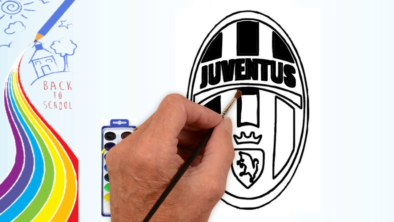 How To Draw Drawing The Juventus Logo Coloring Pages For Kids 2d Cartoon Channel Youtube