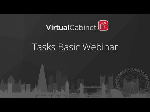 Virtual Cabinet | Tasks Basic Webinar