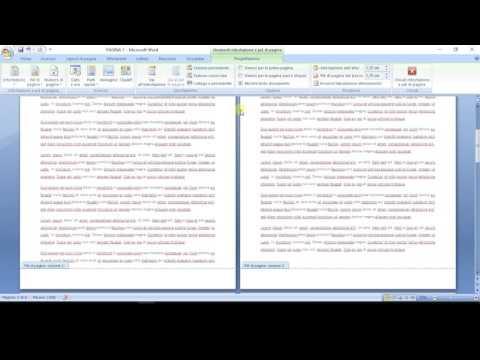 Come numerare le pagine - Word