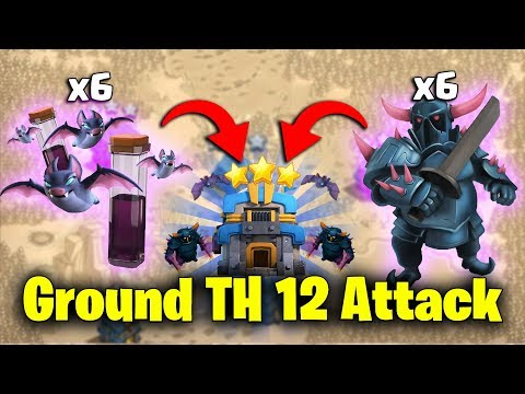 Ground TH12 Attack 2019! 6 Max Pekka 6 Max Bat Spell Destroy 3Star Max TH12 Base | Clash Of Clans