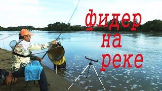 Рыбалка на фидер в реке с течением. С фидером на реке