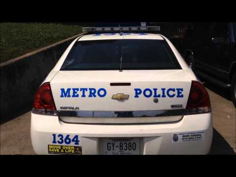 NASHVILLE & DAVIDSON COUNTY METRO POLICE DEPT., WALK AROUND POLICE CRUISER, IN BELLEVUE, TN.