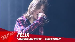 Félix - 'American Idiot' | Blind Auditions | The Voice Kids Belgique