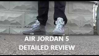 Air Jordan 5 Wolf Grey Shoe Review + On Foot With Dj Delz @DjDelz Sneaker Addict Show 5s V