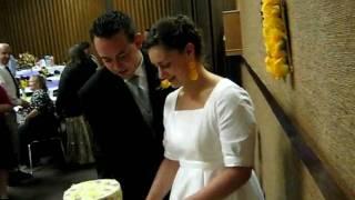Allie & Derik's Wedding - Cake Cutting