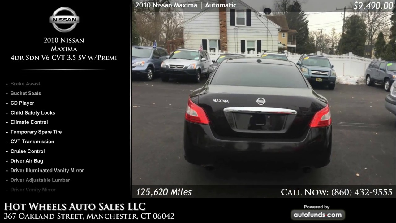 Used 2010 Nissan Maxima | Hot Wheels Auto Sales LLC, Manchester, CT   SOLD
