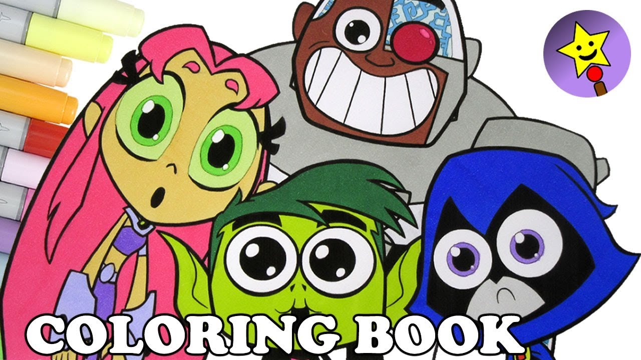 teen titans go coloring book page raven starfire beast boy cyborg