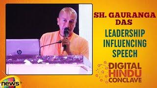 Gauranga Das Leadership Speech | Digital Hindu Conclave LIVE | Bharat Niti | Hyderabad | Mango News