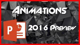 Animations - 9 - PowerPoint (PPT) en 2016 Tutoriel