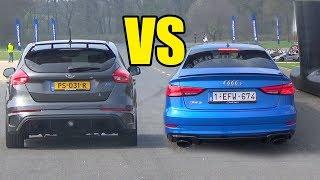 AUDI RS3 vs FORD FOCUS RS   🔥🚀DRAG RACE🚀🔥