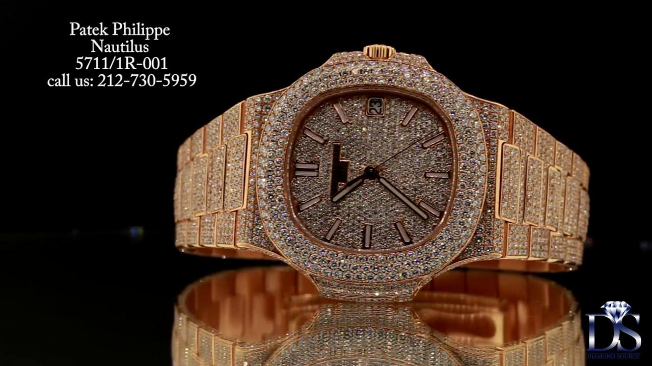 2f0f8f2fce6 Patek Philippe Nautilus 5711/1R-001 with diamonds - YouTube