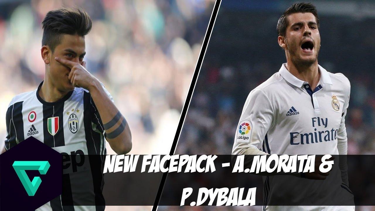 نتيجة بحث الصور عن PES2017 PC | New Face Pack - A.Morata & Dybala + Instalacion 😱