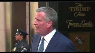Bill De Blasio On Meeting With President Elect Trump Press Conference