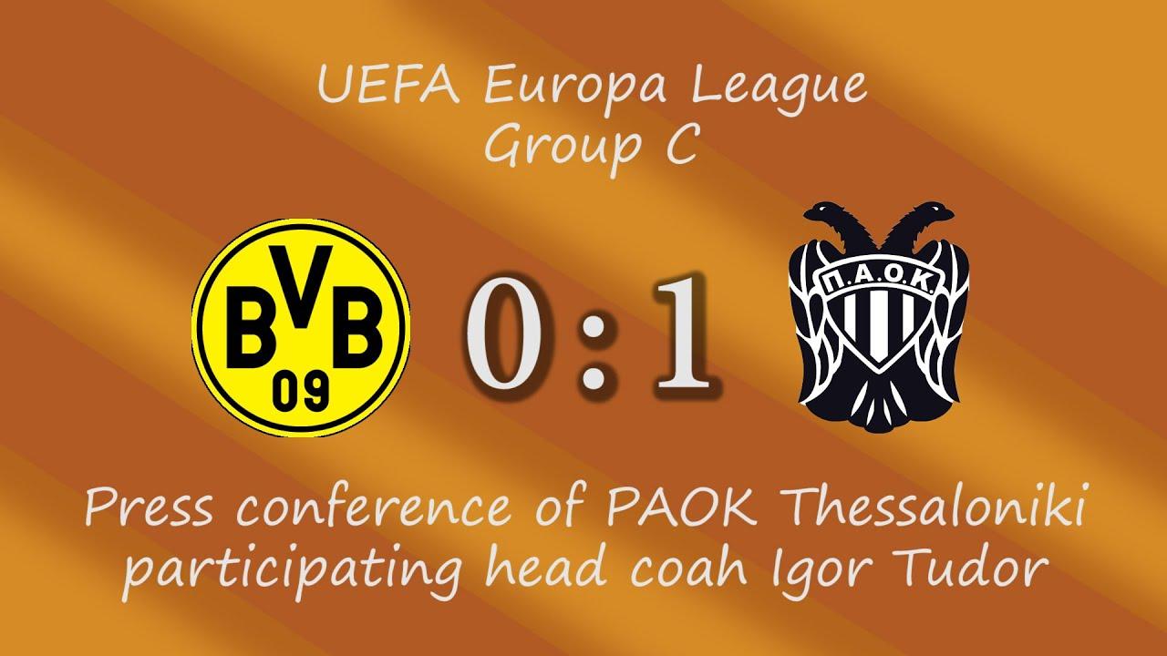 Borussia Dortmund - PAOK Thessaloniki: Igor Tudor spricht über das Spiel
