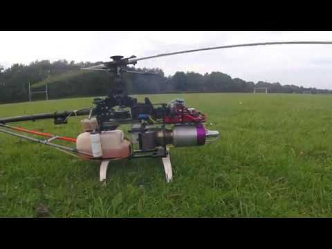 Jet engine rc helicopter maiden