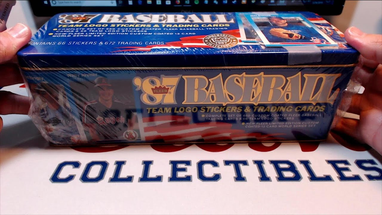 1987 Fleer Baseball Cards Factory Sealed Set Unboxing In Commemorative Tin From Bbce