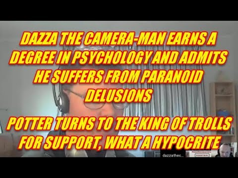 CHRIS POTTER GOES TURNCOAT - DAZZA THE CAMERAMAN EARNS HIS PSYCHOLOGY DEGREE!