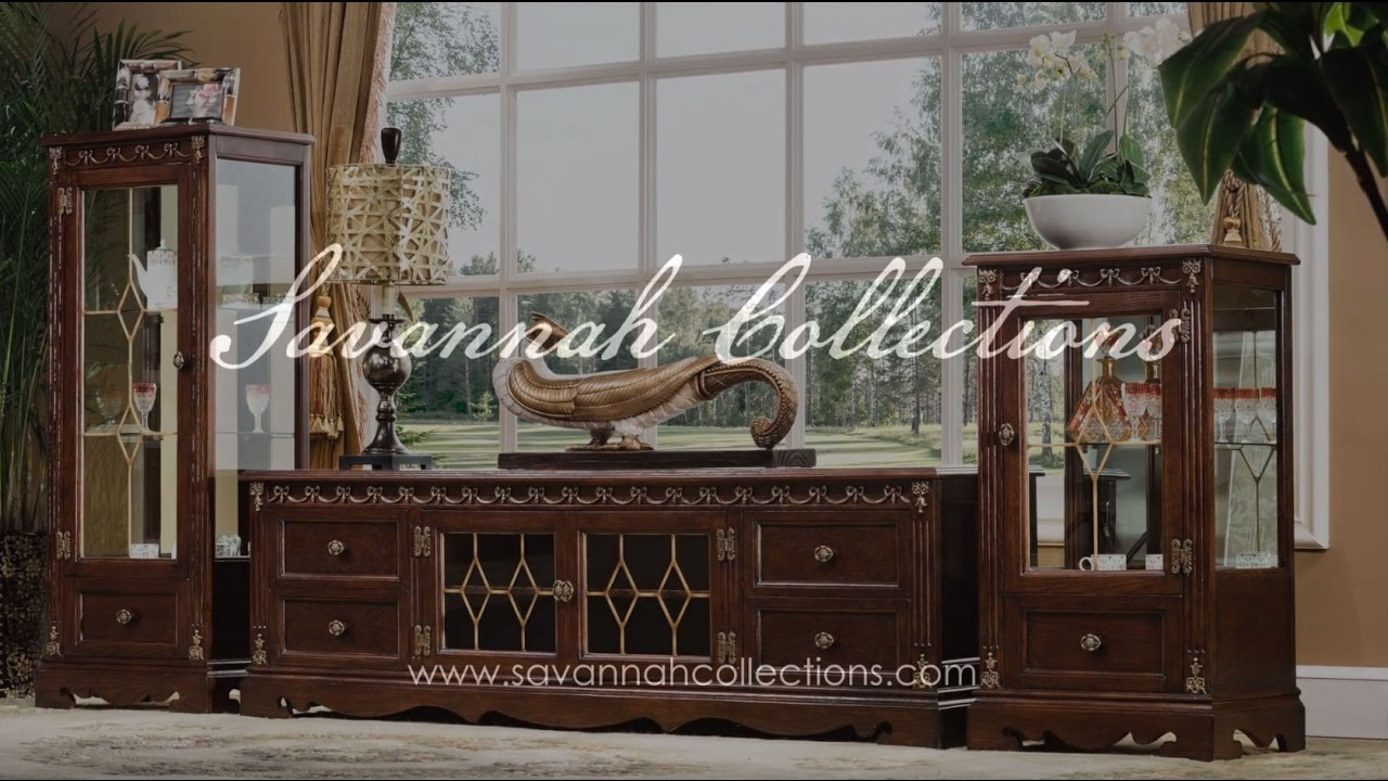 d4698f0e81b8 Italian Furniture TV Cabinet in Antique Cocoa by Savannah Collections -  Hickory White
