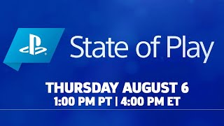 PlayStation State of Play Livestream - August 6th 2020