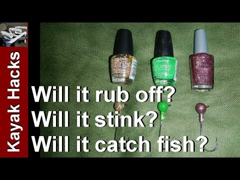 Use Dollar Store Nail Polish On Jigheads? Fishing Test Of The  Dollar Store Fishing Challenge