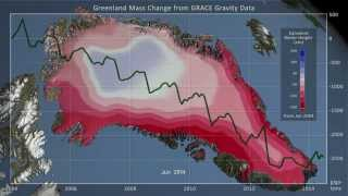 Greenland Ice Mass Loss. Jan. 2004 - June 2014
