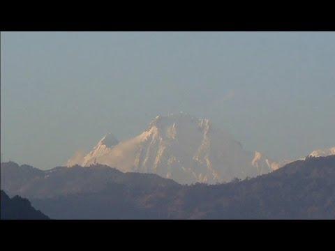 Sunset Himalaya Mountain views from Kathmandu