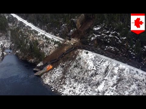 Thumbnail: Train derailment in Canada: conductor missing, oil spilled into river