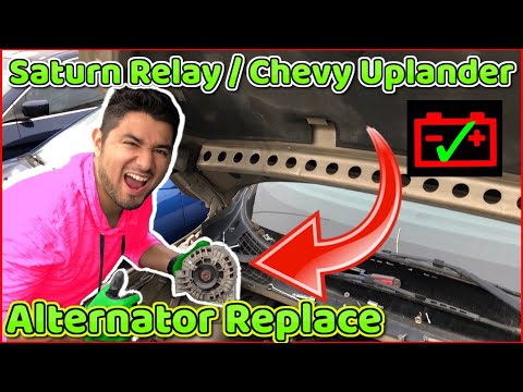 How to remove alternator on Chevrolet Uplander and Saturn Relay