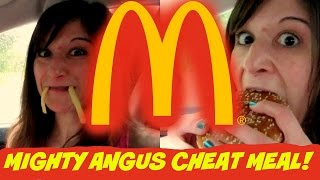 McDonald's MIGHTY ANGUS CHEAT MEAL & Review | Nicole Collet