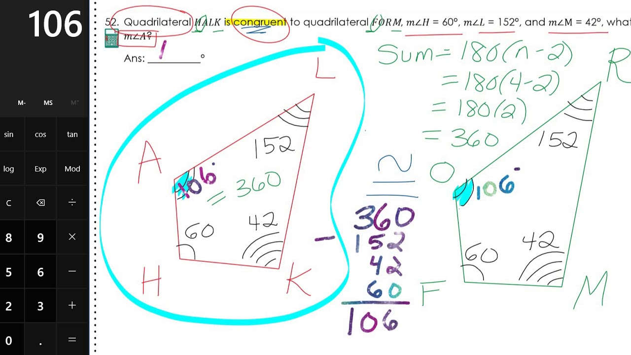 Geometry EOC Full Year Review Packet - FHS Page 11 - YouTube