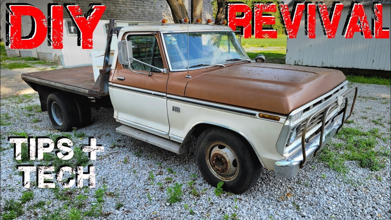 How To Revive Abandoned Cars and Trucks! 1974 F350 First Start
