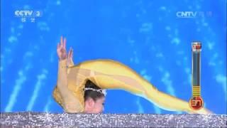 澳门香港台湾高端大气表演节目-美女柔术《金色年华》金色主题蛇年春晚演出