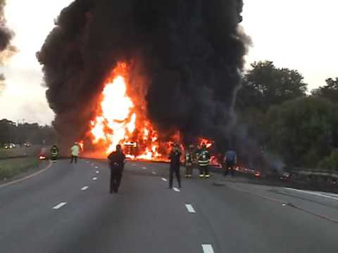 Gas Tanker Crash and Fire