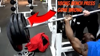 180kg Bench Press Gone Wrong ( Gym Fails 2016)