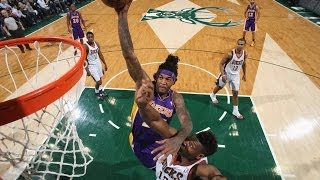 Jordan Hill Makes the Dazzling Spin and Facial on Jeff Adrien
