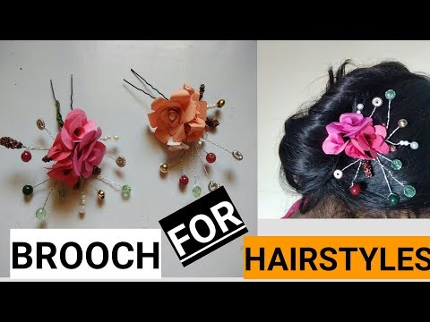 How To Make Brooch For Hairstyles (2018)