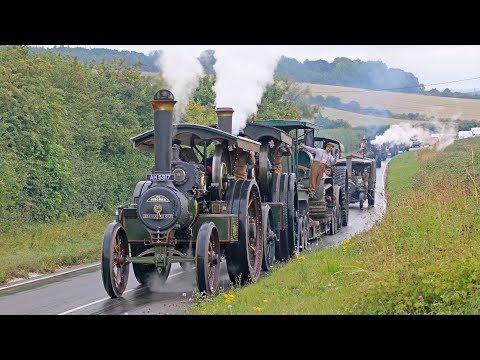 Incredible WW1 Military Vehicle Convoy Steam Through Dorset 11/8/18